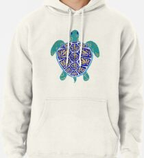 Sea Turtle – Navy & Gold Pullover Hoodie