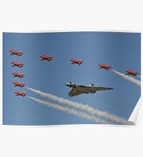 Red Arrows and Vulcan flypast Poster