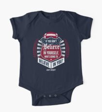 Limited Edition Believe In Yourself, Tom Brady Quote, New England Patriots, Tb12 Shirts, Mugs & Hoodies Short Sleeve Baby One-Piece
