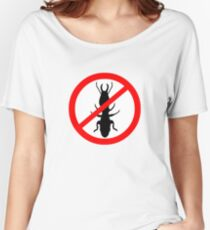 Beware Termites Symbol Women's Relaxed Fit T-Shirt