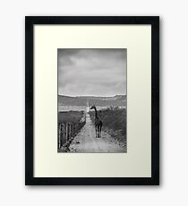 The Long Road Home / black & white edition Framed Print