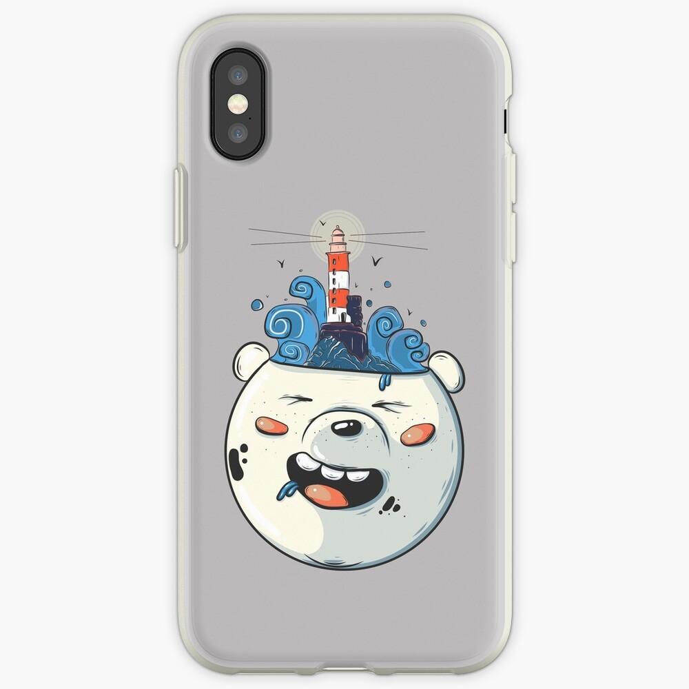 Ice Bear Get Idea. We Bare Bears fan art. iPhone Case & Cover