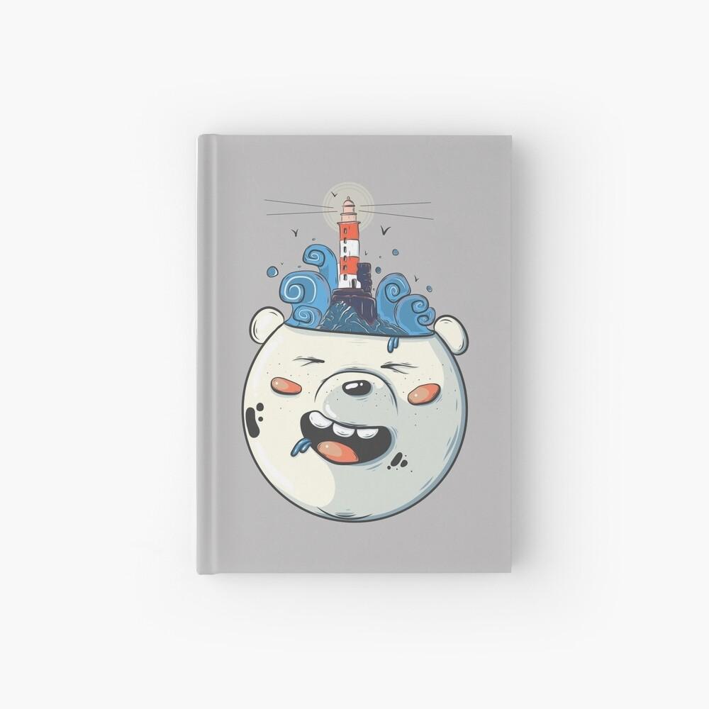 Ice Bear Get Idea. We Bare Bears fan art. Hardcover Journal