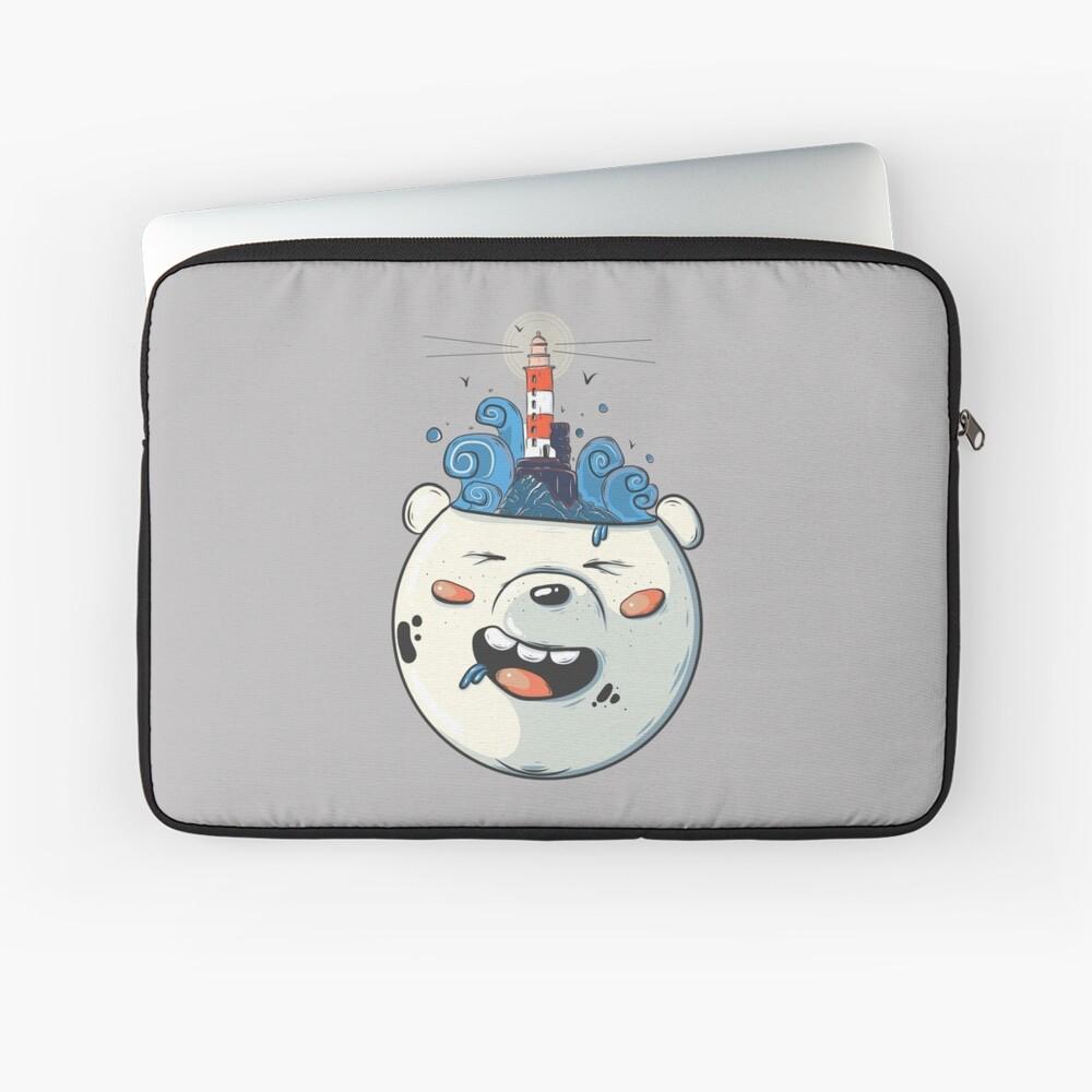 Ice Bear Get Idea. We Bare Bears fan art. Laptop Sleeve