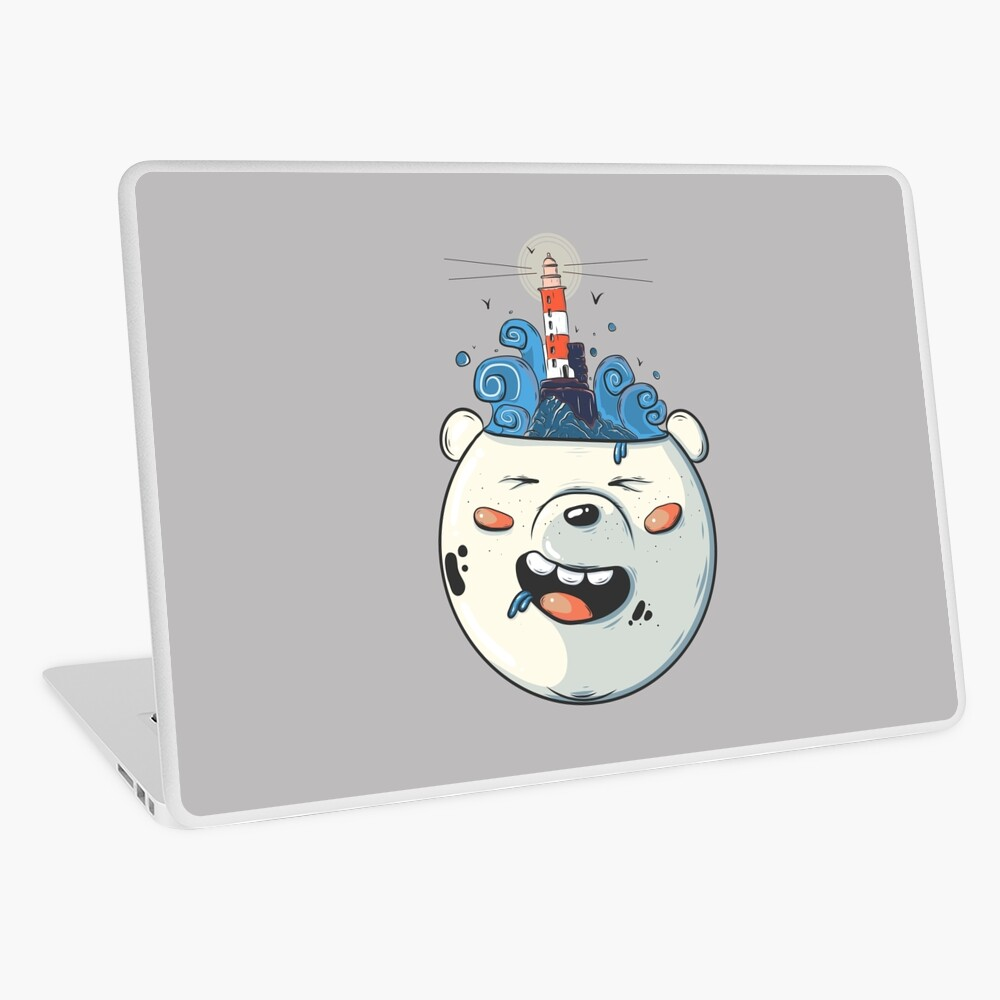 Ice Bear Get Idea. We Bare Bears fan art. Laptop Skin