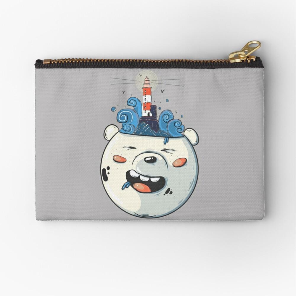 Ice Bear Get Idea. We Bare Bears fan art. Zipper Pouch