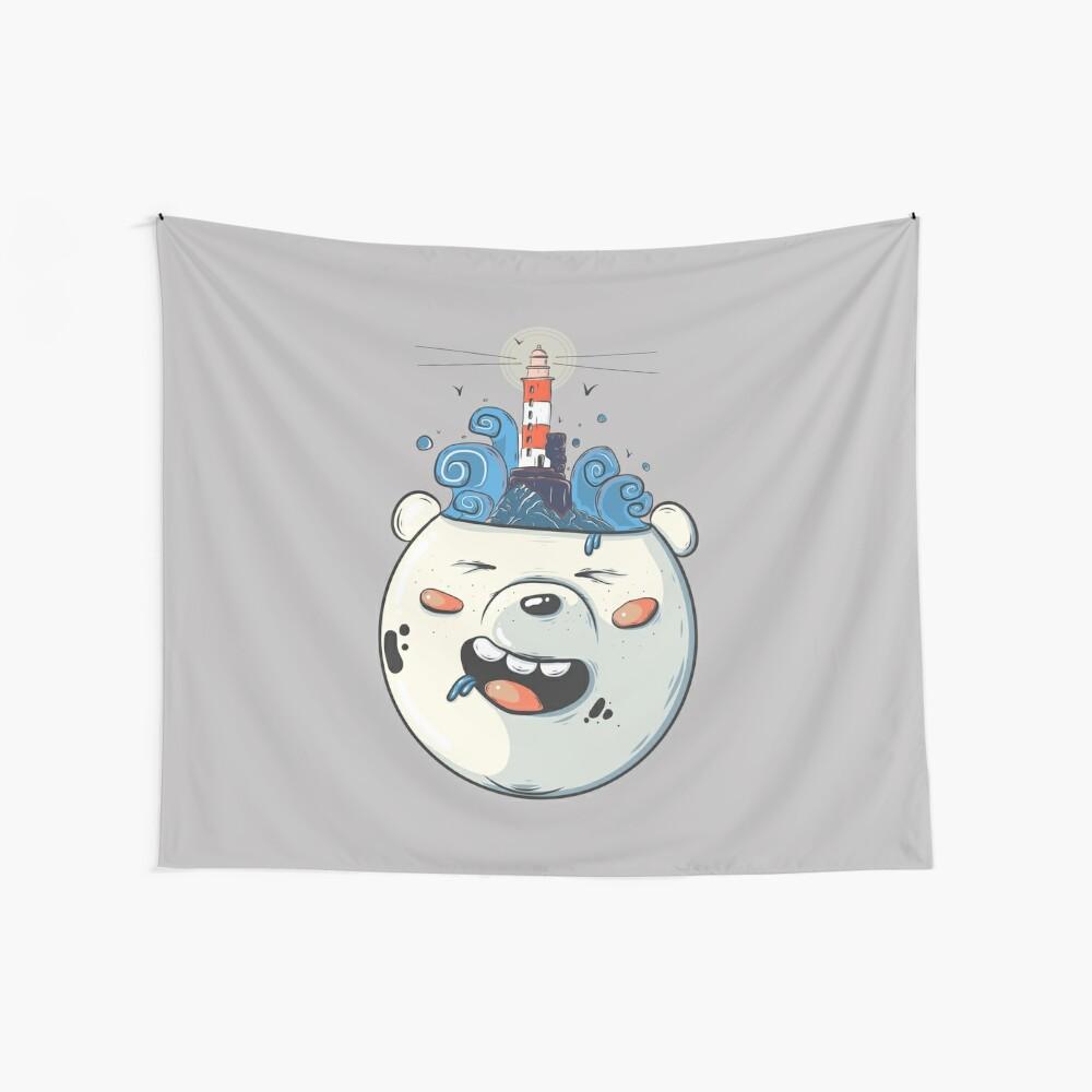 Ice Bear Get Idea. We Bare Bears fan art. Wall Tapestry