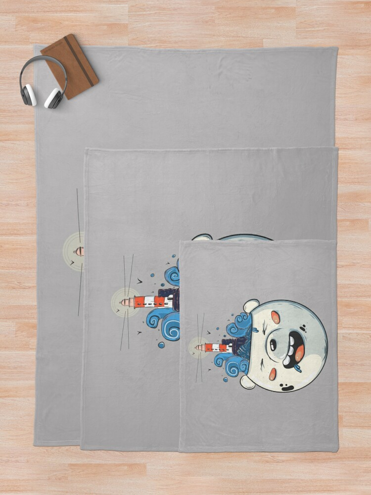 Alternate view of Ice Bear Get Idea. We Bare Bears fan art. Throw Blanket
