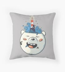 Ice Bear Get Idea. We Bare Bears fan art. Floor Pillow