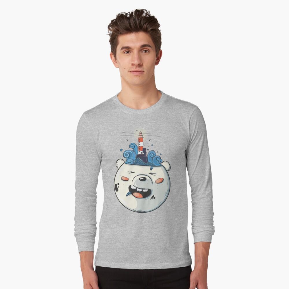 Ice Bear Get Idea. We Bare Bears fan art. Long Sleeve T-Shirt