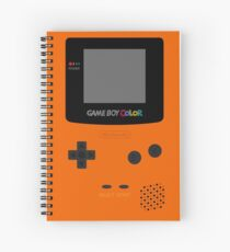 Game Boy Orange Spiral Notebook