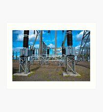 Electricity Distribution Art Print