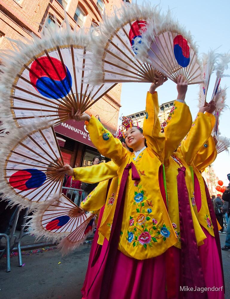Korean Dancers in NYC by MikeJagendorf