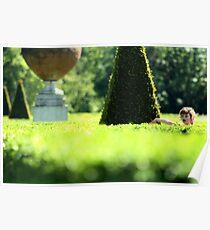 Topiary Garden - Cliveden, Taplow Bukinghamshire England Poster