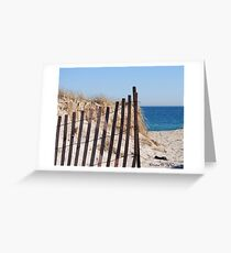 Long Island Beach Dune Greeting Card