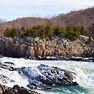 Frozen Great Falls, Virginia by MikeJagendorf