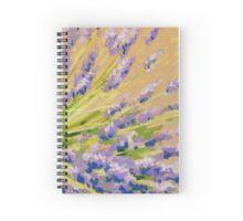 Lavender flowers in pastel. Painting Spiral Notebook