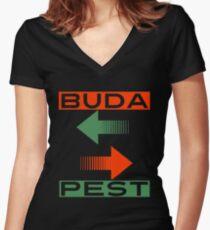 BUDAPEST Women's Fitted V-Neck T-Shirt
