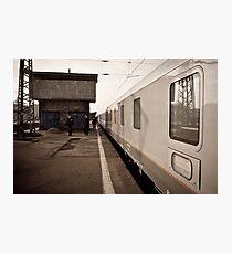 wINTER wAITING wARSAw Photographic Print