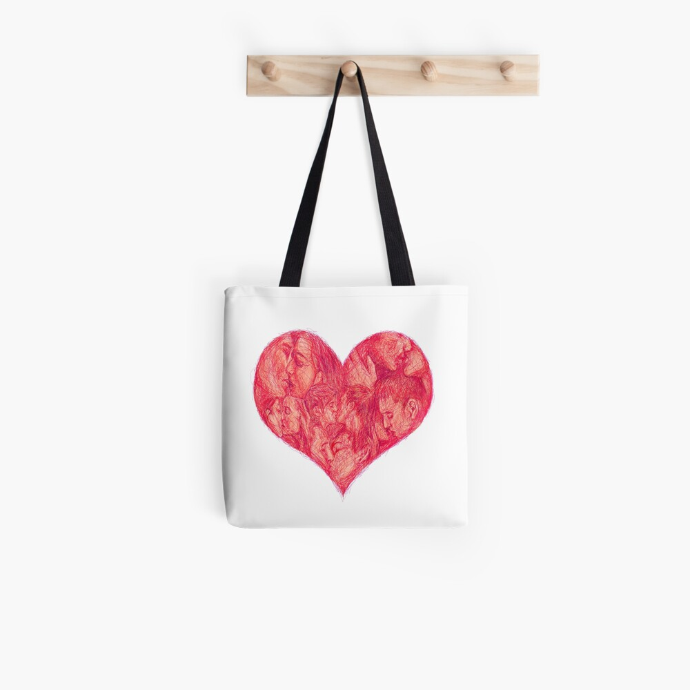 Kiss (White Background) Tote Bag