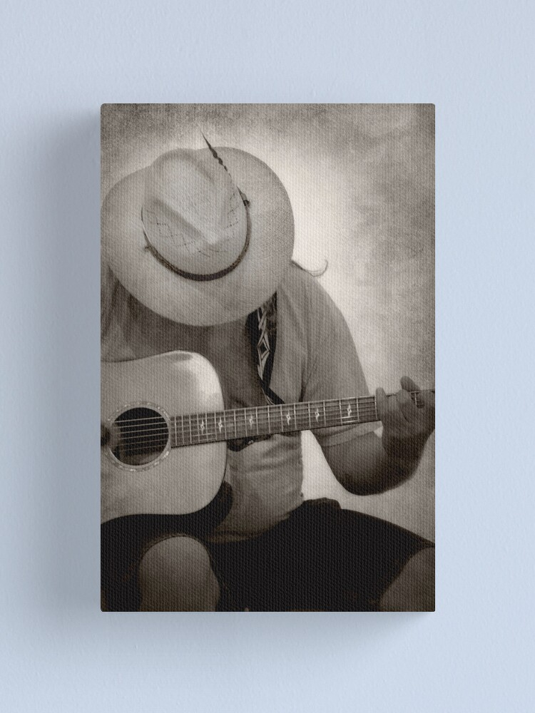Alternate view of Guitar Man Canvas Print