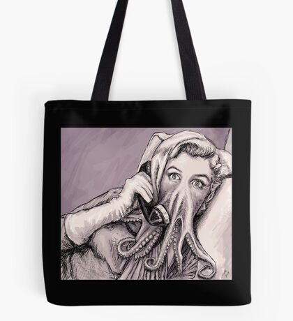 Phone Call of Cthulyn Tote Bag