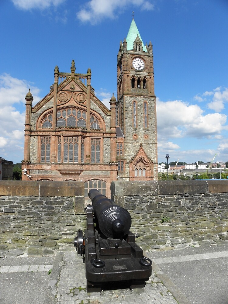 Derry walls and Guildhall - Co Derry - Ireland by mikequigley