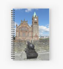 Derry walls and Guildhall - Co Derry - Ireland Spiral Notebook
