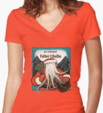 Father Cthulhu Women's Fitted V-Neck T-Shirt