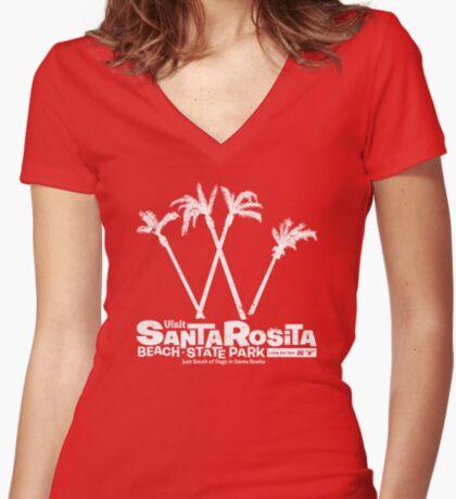 Santa Rosita Beach State Park Women's Fitted V-Neck T-Shirt