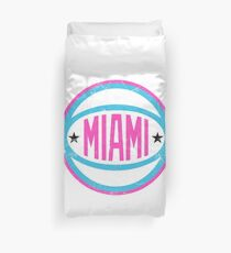 Miami Retro Ball - White Duvet Cover