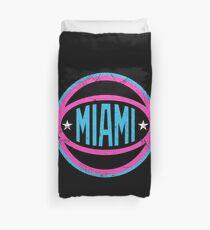 Miami Retro Ball - Black 2 Duvet Cover