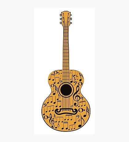 Gitarre und Musik Noten 4 Fotodruck