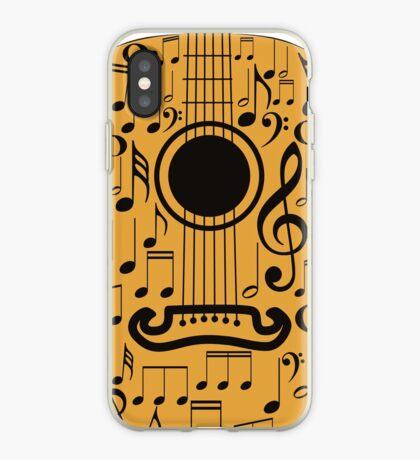 Gitarre und Musik Noten 4 iPhone-Hülle & Cover