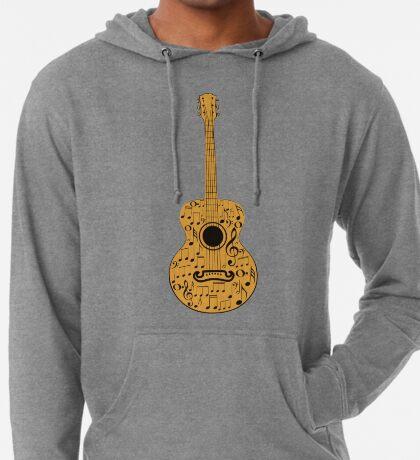 Gitarre und Musik Noten 4 Leichter Hoodie