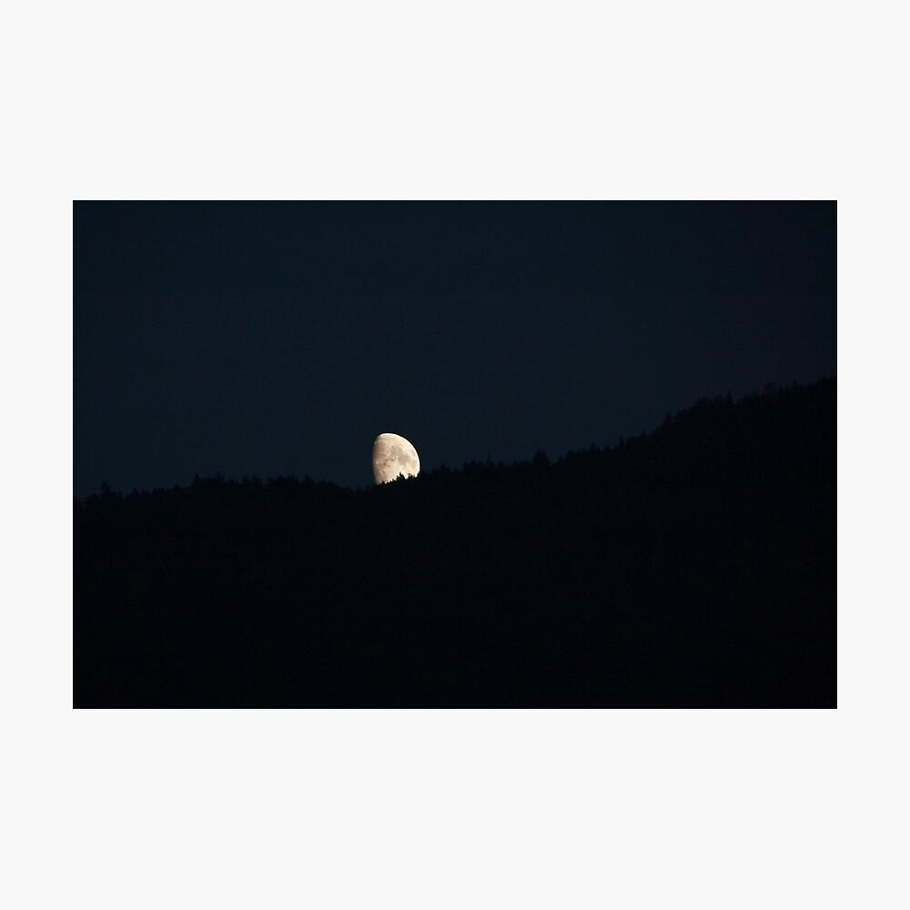 Moon peering over the hillside, Bolzano/Bozen, Italy Photographic Print