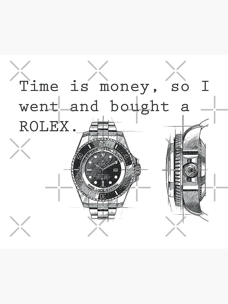 TIME IS MONEY - ROLEX  by CUTOCARS