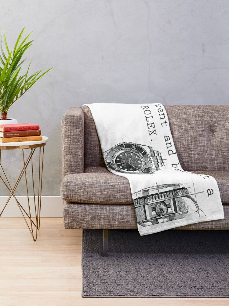 Alternate view of TIME IS MONEY - ROLEX  Throw Blanket