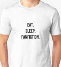 eat sleep fanfic Unisex T-Shirt