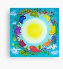 Rainbow Circle Flourishes Canvas Print