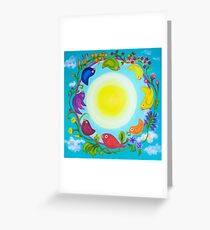 Rainbow Circle Flourishes Greeting Card