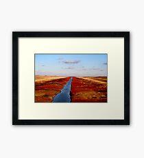 Red River Floodway Framed Print