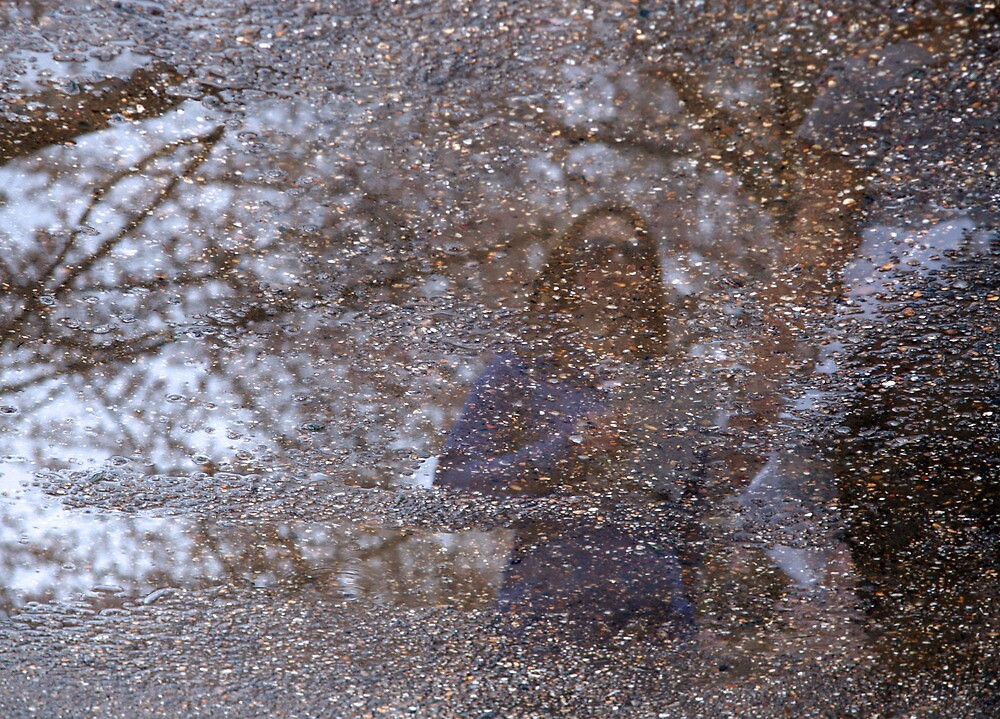 Reflections on a Wet Sidewalk by Cora Wandel