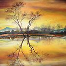 Sunset on the Lake, Alsacia  by Sorin Apostolescu