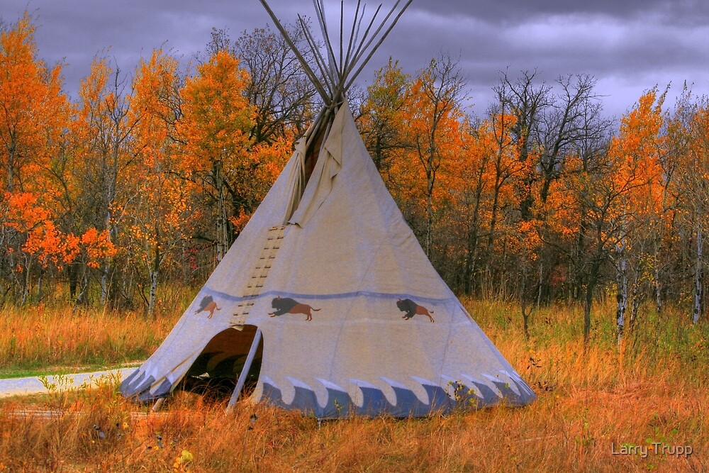 Quot Plains Cree Teepee Quot By Larry Trupp Redbubble