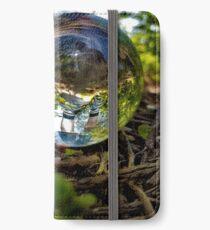 Kristallkugel, die Reflexion iPhone Flip-Case/Hülle/Klebefolie