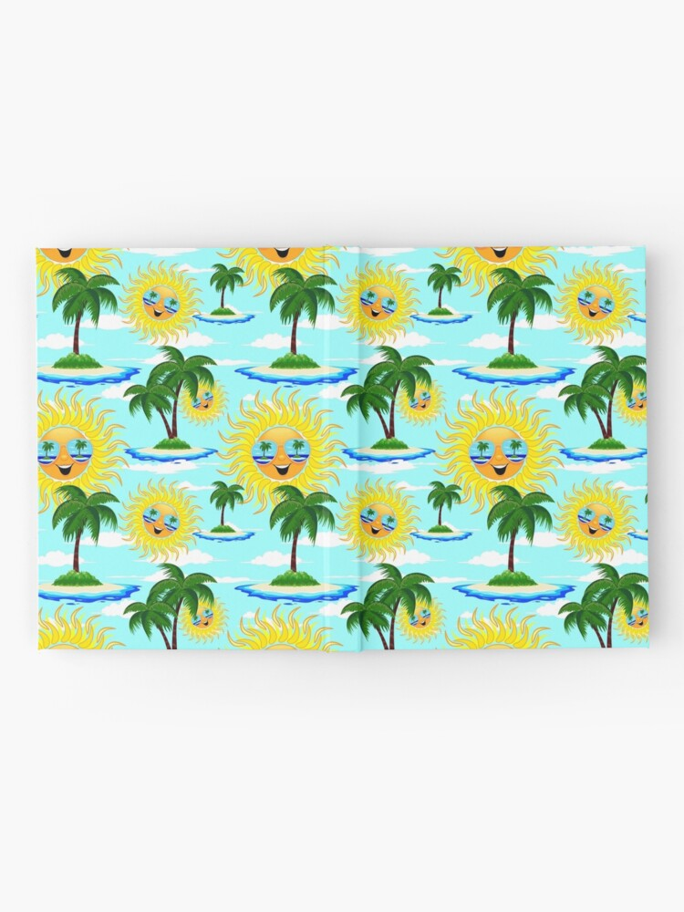 Alternate view of Happy Summer Sun and Tropical Island Hardcover Journal