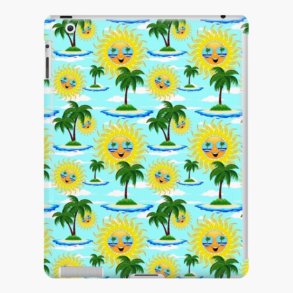 Happy Summer Sun and Tropical Island iPad Case & Skin