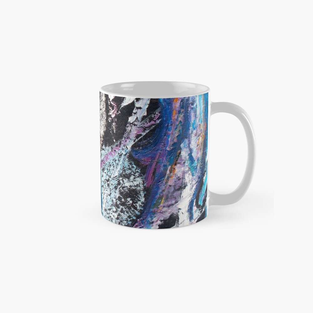 Blue Lily Abstract Art Mugs