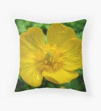 buttercup and aphid Throw Pillow